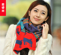 2013 scarf women's autumn and winter scarf muffler onta double faced yarn scarf female