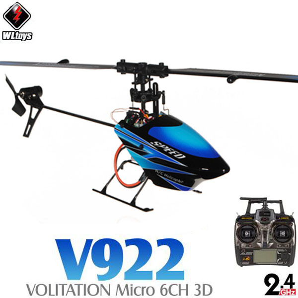WLtoys V922 2.4G Flybarless 3D 6CH Helicopter With Gyro RTF(China (Mainland))