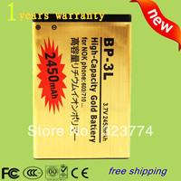 discount price 2450mAh High Capacity Battery BP-3L Battery BP 3L Battery Use for Nokia 603 701 303 Lumia 710 610  +by SG post