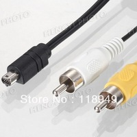 100pcs/lots Camera Cable USB 8P pin Camera AV cable for Nikon ,Free shipping By Fedex