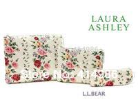 HOT  Free shipping 2014 hot sales fashion floral travel three-piece storage bag cosmetic bag handbag HZB068