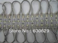 LED module for channel letter and advertising LED sign 3 LED SMD 3528 waterproof 100pcs/lot Free shipping