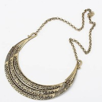 Fashion Vintage bronze metal crescent collar necklace 12pcs/lot Free shipping