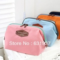 Free Shipping Multifunctional fashioncosmetic bag cotton cloth portable  cotton cloth wash bags steelframe