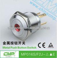 16mm Free Shipping push button switch illuminated LED momentary switch