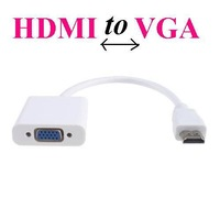 HDMI To VGA Cable Adapter,HDMI To VGA Converter Male To Female With Built-in Chipset and up to 1080p *100pcs/lot