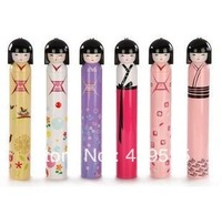 5pcs one pack novelty design 5 folding doll folding umbrella printed umbrellas with dome umbrella
