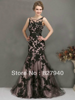 New style Sexy/Charming sleeveless  floor-length With Appliques Mermaid prom/Party/Celebrate dresses