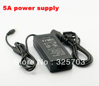 Free shipping high quality 5 A 12 v power adapter transformer eu plug power supply for 5050 RGB led lamp belt