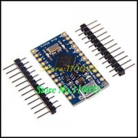 Free Shipping New Pro Micro for arduino ATmega32U4 5V/16MHz Module with 2 row pin header For Leonardo 5PCS/LOT best quality
