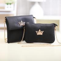 Korean version of the new fashion handbags crocodile pattern retro crown packet chain bag hand shoulder bag diagonal B057