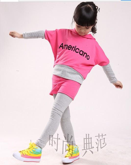 Di ragazze ragazze sportwear kid's vestiti dei bambini tuta c66
