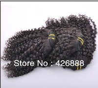 Kinky Curl Natural Color Brazilian Virgin Hair