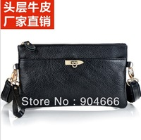 fashion 100% Head layer cowhide crocodile women messenger bags small,Korean edition genuine leather shoulder bags for woman