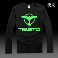 Luminous tiesto dj long-sleeve T-shirt male women's