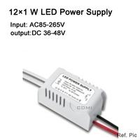 Free shipping 12 X1W led power driver lamp driver AC85-265v external LED power supply input for E27 GU10 LED lamp spotlight