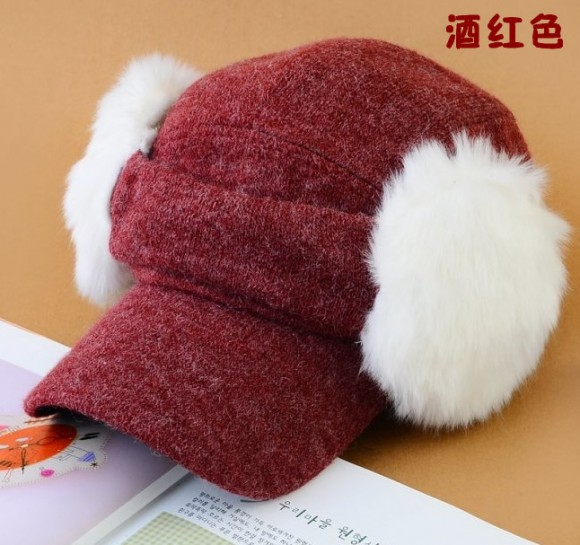 New arrive active sports version of the new autumn and winter fashion baseball cap detachable ear tide unisex A368Free Shipping(China (Mainland))