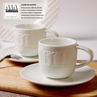 100% Original  German ASA  3D yarn pattern Coffe cup and saucer   Quality   fashion espresso coffee cup 80ml