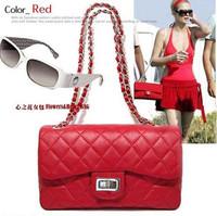 free shipping New style womens plaid shoulder bag chain bag women's handbag  new fashion