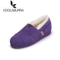 Cotton koolaburra2013 gommini loafers female plus velvet wool and fur in one winter Women flat