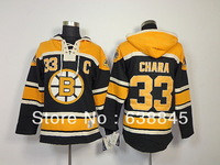 Free Shipping Zdeno Chara Boston Bruins #33 Hockey Hoodie Jersey Men's Size
