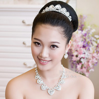 Water bride accessories wedding accessories jewelry married necklace three pieces set