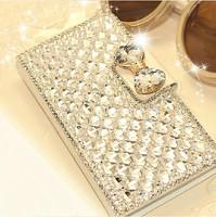 Luxury Bling Rhinestone Leather Case For Samsung Galaxy S5 I9600 S4 I9500 S3 I9300 S2 I9100 Mobile Phone Card Holder Diamond Bag