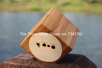 Portable Wooden Speaker Sound Speaker for Laptop PC Mobile Phones Natural Bamboo Square Speaker