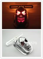 FREE SHIPPING Skull Rear Tail Light Mount Plate for Honda Shadow VT Rebel Sabre VTX1300 VTX1800 Classic Custom choppers Bike