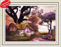 Free shipping Wholesale retail DIY diamond painting diamond cross stitch kit Inlaid decorative painting  Dream house DM1203047