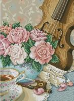 Free Shipping christmas sale Cross stitch dmc line rs violin