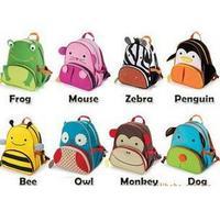 2014 Fashion New animal school bag /children school bag / cartoon bag / school bag Bee frog elephant monkey zebra owl fox puppy