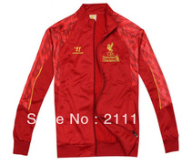 Best qualuty 2013/14 Liverpool red football soccer jacket,liverpool red football coat/sweater 2014