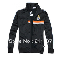 Best qualuty 2013/14 Real Madrid black football soccer jacket,real madrid football coat/sweater 2014