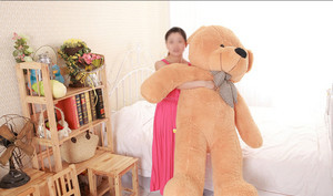 Perfect Gift Light Brown Giant Bear Cute Stuffed Plush Teddy Bear Soft Toy(China (Mainland))