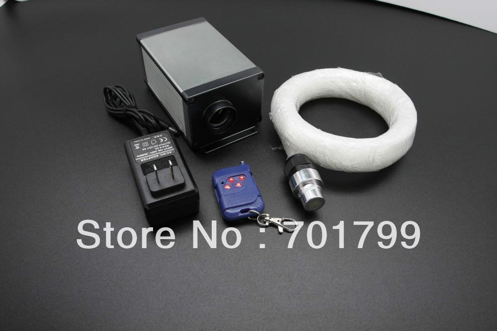 led fiber optic kits, standard 6 colors, 12V, light engine(LLE-003);250*0.75mm 3m long PMMA fiber optic(China (Mainland))