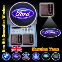 9th Generation Logo CREE Wireless LED Projector Car Door Welcome Lights