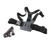 Chest Body Strap For GoPro Hero3 hero2 hero1 with 3-way adjustment base j hook Chest Mount Harness Adjustable Elastic Body belt