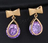 18K Gold Plated Drop Earrings for Women,luxury cubic zirconia Earring Dangle Earings