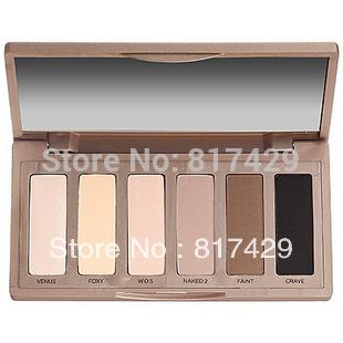 New Arrival nk makeup Nake Basics Palette 6 Colors Eyeshadow Free shipping 2013 retail wholesale price(China (Mainland))