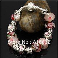 silver bracelet-APB102-Charm Chamilia Bracelet Drop Shipping 925 Tibetan Silver Glass For Women Fashion European Style Jewelry
