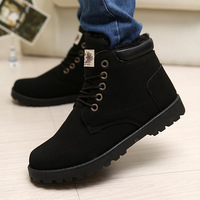 Casual male cotton-padded shoes winter warm shoes high-top shoes the trend of fashion martin short boots snow boots male boots