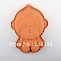 New Cute Brown Frank Monkey Cake Mold Silicone Chocolate Pudding Molds Cake Decorating Tool Pastry Mould