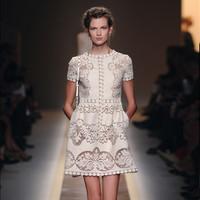 women dresses 2013 new fashion luxurious brand fashion dresses designer Hollow out Knee-Length one-pieces dress plus size