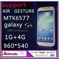 "original galaxy I9500 S4 android phone 5.0"" IPS MTK6577 dual core 1G+4G ROM 960*540 8mp.support air gesture VS zopo c3.hk post"