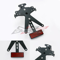 Black Color License Number Plate Mounting Holder Bracket Support Tail Tidy SMD Indicator Lights For Yamaha R1 2009-2011 2010