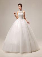 2014 On Sale Princess Bridal Wedding Dress, Off The Shoulder Lace Halter Ball Gown Dress HS289