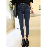 Women's 2013 autumn vintage jeans plus size high waist casual pants long trousers