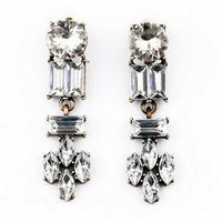 Min Order $18(Can Mix Item)Hot Selling Fashion 2014 Vintage imitation Crystal Charm Earrings