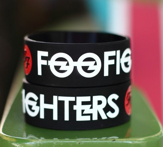 Foo fighters fans hand ring star memorial accessories fashion hot-selling silica gel hand ring(China (Mainland))